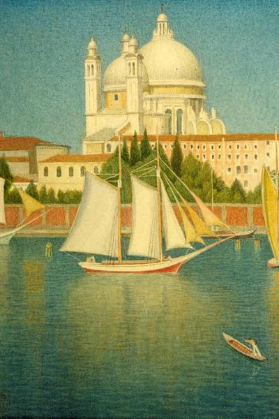 Image: Southall Joseph Edward, 'The Salute from the Giudecca', gouache/tempera/silk, 1937. Adopted by Mr George Barrow