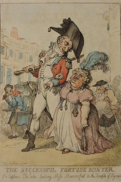 Image: The Successful Fortune Hunter, Thomas Rowlandson, 1812