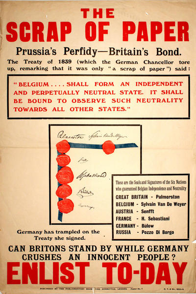 Image: The scrap of paper, Prussia's Perfidy-Britain's Bond, 1914