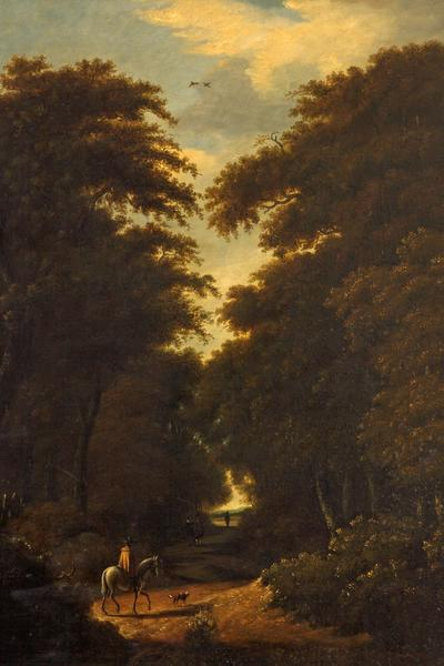 Image: Dutch School, 'Forest scene', oil on canvas, mid 17th century