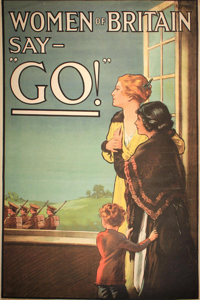 Image: Women of Britain say-'Go!', by E. Kealey, 1914