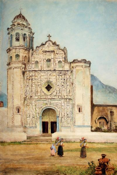 Image: Church at Orizaba Mexico by Adela Breton, 1892