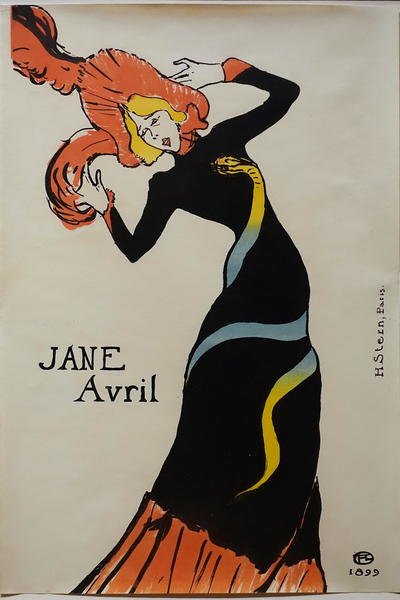 Image: Jane Avril by Toulouse-Lautrec
