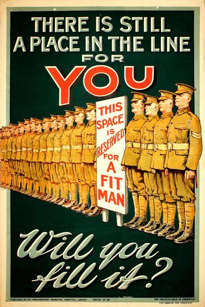 Image: World War One recruiting poster