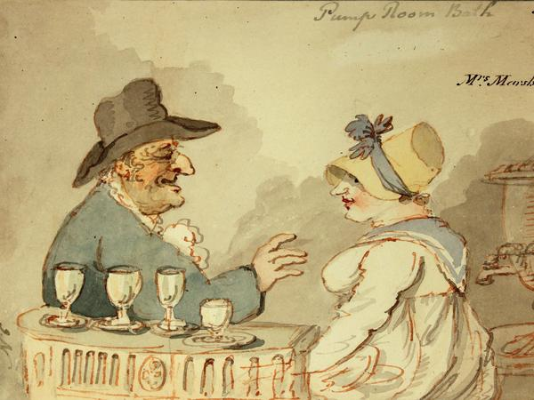 Image: John Nixon, Mrs Marshall at the Pump Room, 1810