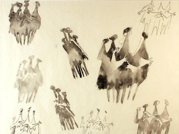 Image: Kenneth Armitage, Watercolour Sketch for People in the Wind