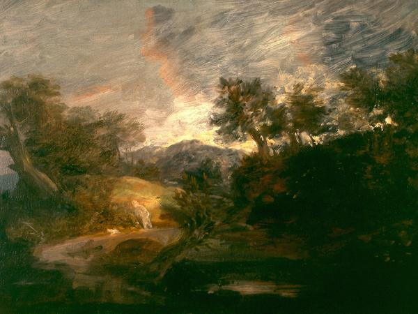Image: Thomas Gainsborough, Hilly Wooded Landscape