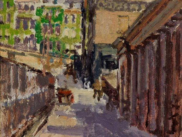 Image: Walter Sickert, Belmount and back of Assembly Rooms, 1917