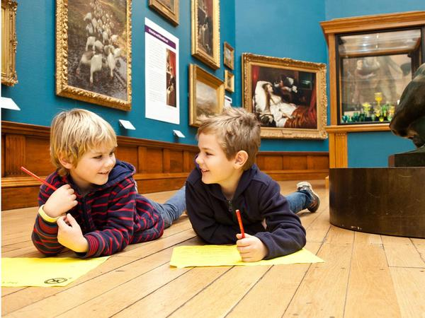 Image: Children's activity at the Victoria Art Gallery