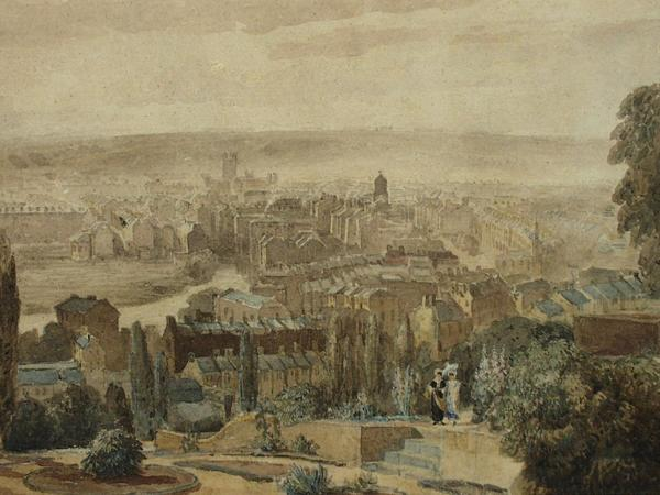 Image: Bath from Beacon Hill, David Cox, 1815