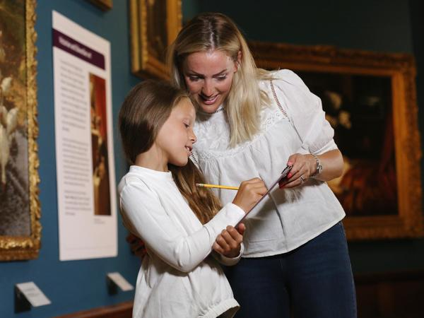 Image: A family activity in the Gallery