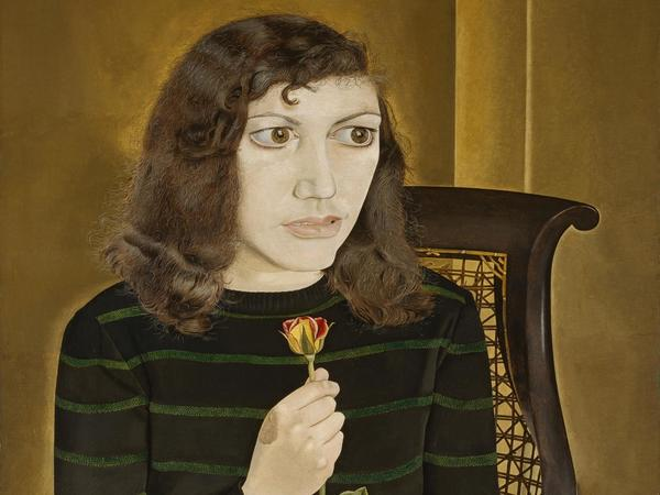 Image: Lucian Freud Girl with Roses, 1947-8 oil on canvas Credit British Council, London, UK © The Lucian Freud Archive, Bridgeman Images