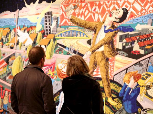 Image: Grayson Perry exhibition at the Victoria Art Gallery, 2016