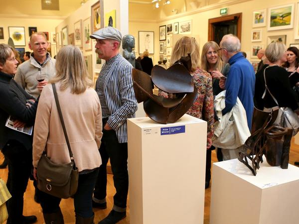 Image: Friends at a private view event
